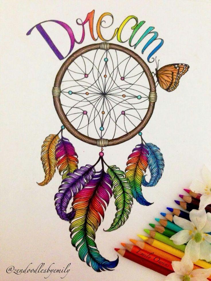 Dream big...work hard | Art ideas | Dream catcher drawing ...