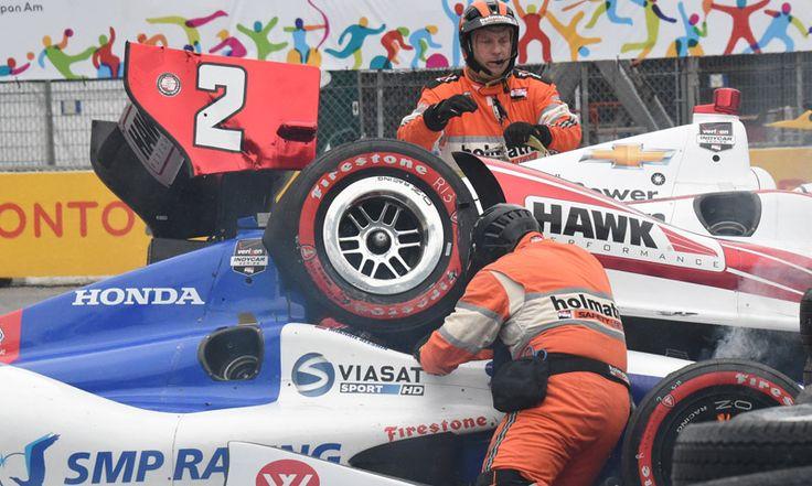 Juan Pablo Montoya Mikhail Aleshin Crash IndyCar Toronto | SPEED SPORT