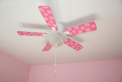Toddler Princess Room - DIY pink flower fan