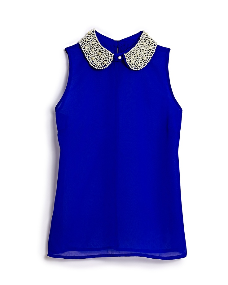 That's what we call a pop of color! This embellished top ...