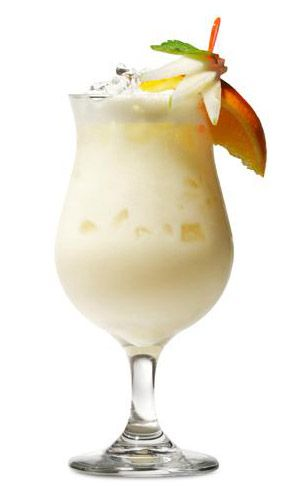 The Original Pina Colada :: 3 parts fresh pineapple juice • 1 part cream of coconut • 2.5 oz. Rom del Barrilito rum • Blend together & garnish with a slice of orange & a maraschino cherry. Grab your Grass Skirt and Salud! ツ