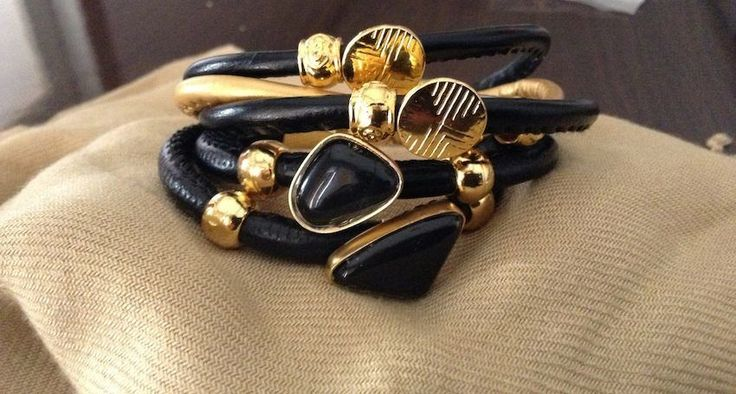 STUFF WE LOVE:Extremely fashionable golden plated bracelets by Ozzi Jewellery. PRICE: 39e