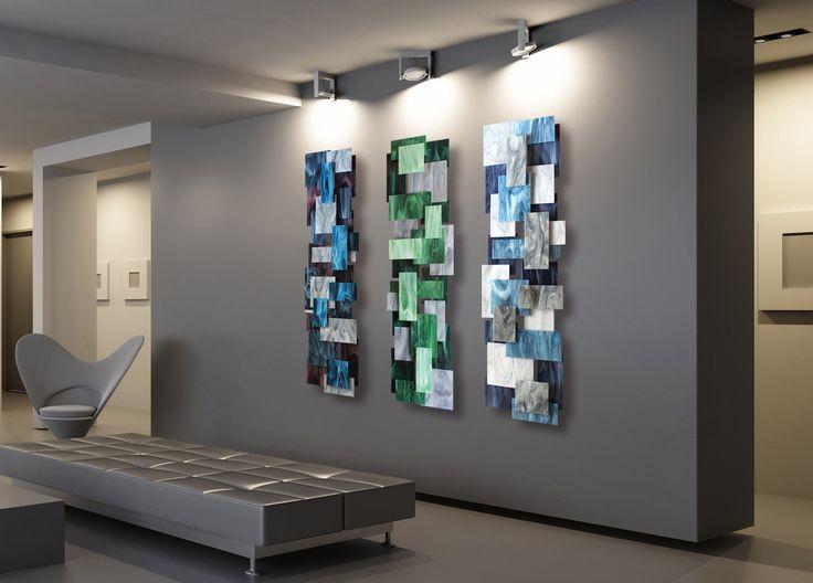 Triptych by Karo Martirosyan (Art Glass Wall Sculpture) | Artful Home