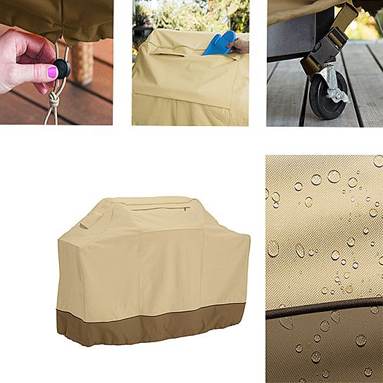 Useful Water-Resistant BBQ Gas Grill Cover by La Casa Milano INC