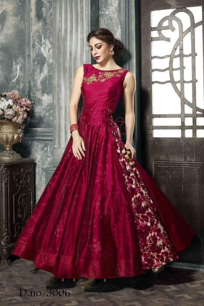 Sethnic Wholesale supplier of silk base gowns in surat | Kurtis ...