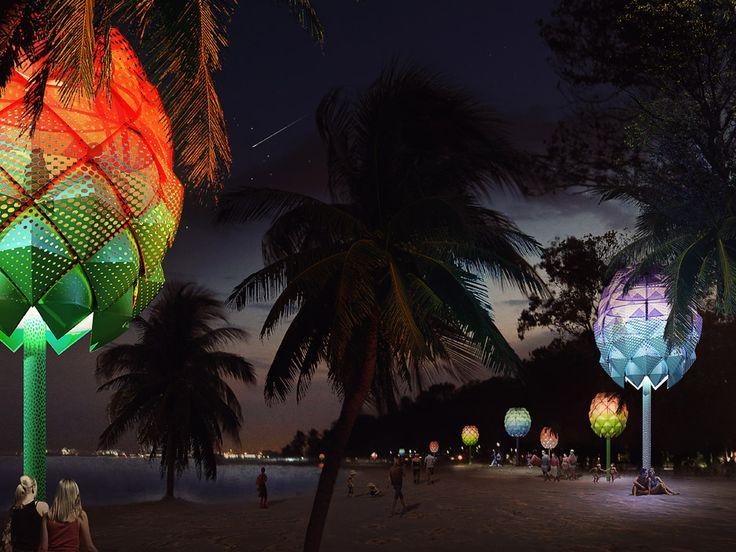 Staan deze hutten van gerecycled plastic binnenkort aan het strand van Singapore? - Roomed