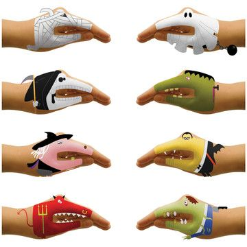 Scary Hands Tattoos now featured on Fab.