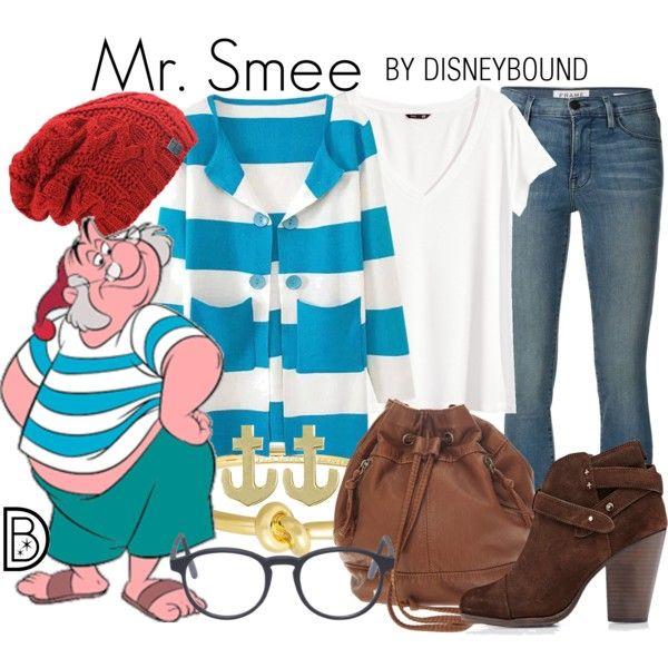 Mr. Smee by leslieakay on Polyvore featuring H&M, Frame Denim, rag & bone, Kate Spade, Jewel Exclusive, RetroSuperFuture, disney, disneybound and disneycharacter