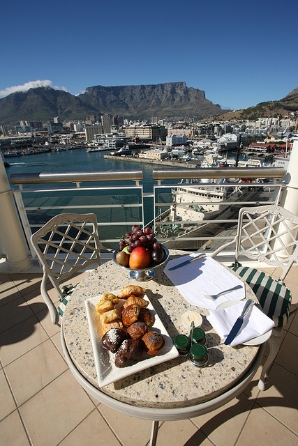 A room with a view... Enjoy a leisurely breakfast at The Table Bay Hotel with the finest view of Cape Town.