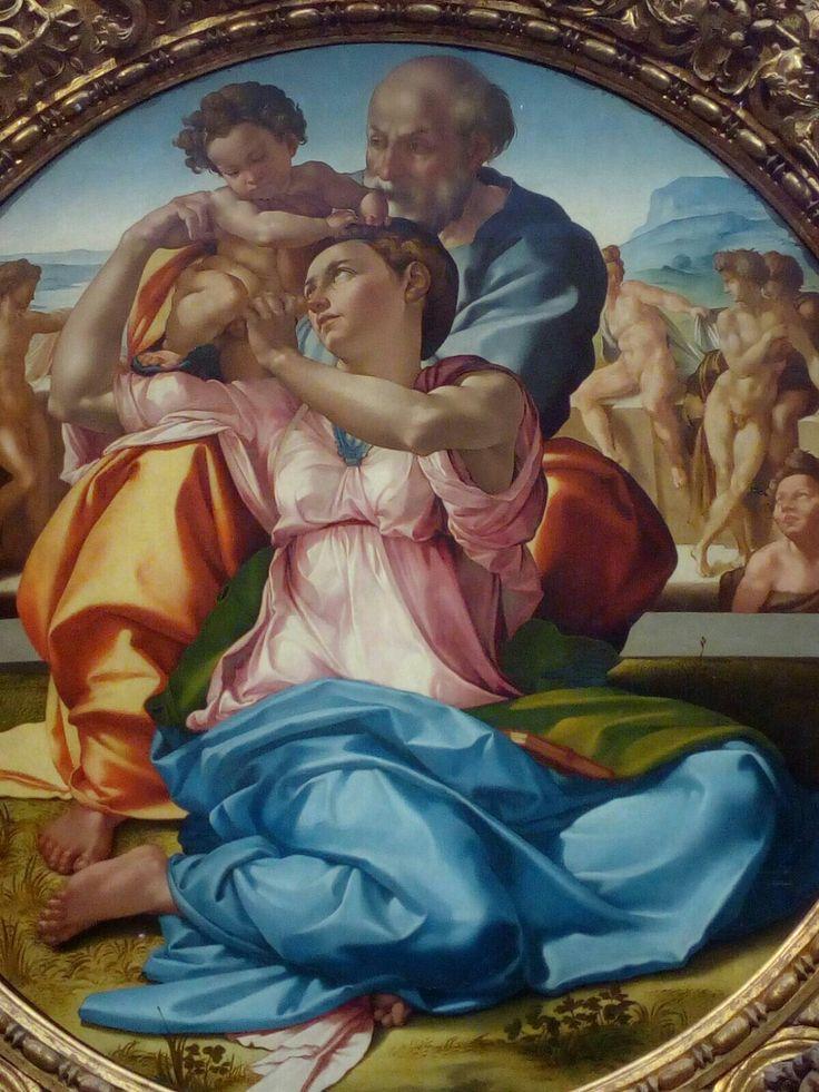 Firenze, Galleria degli Uffizi , Sacra Famiglia (Michelangelo Buonarroti)