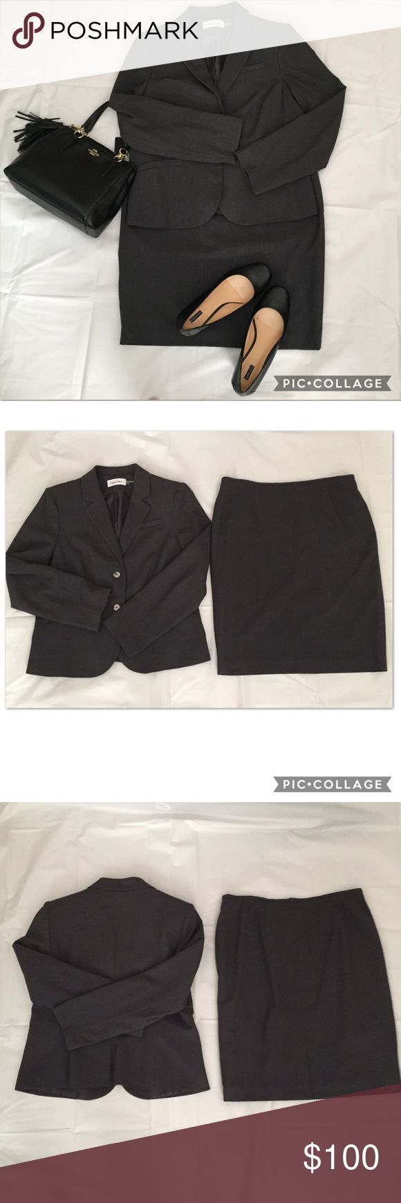Calvin Klein Charcoal Grey Suit - NWOT Size 14 Calvin Klein Charcoal Grey Suit - NWOT Size 14 Calvin Klein Other