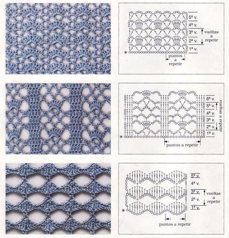 Рисунок вязания крючком схемы для начинающих