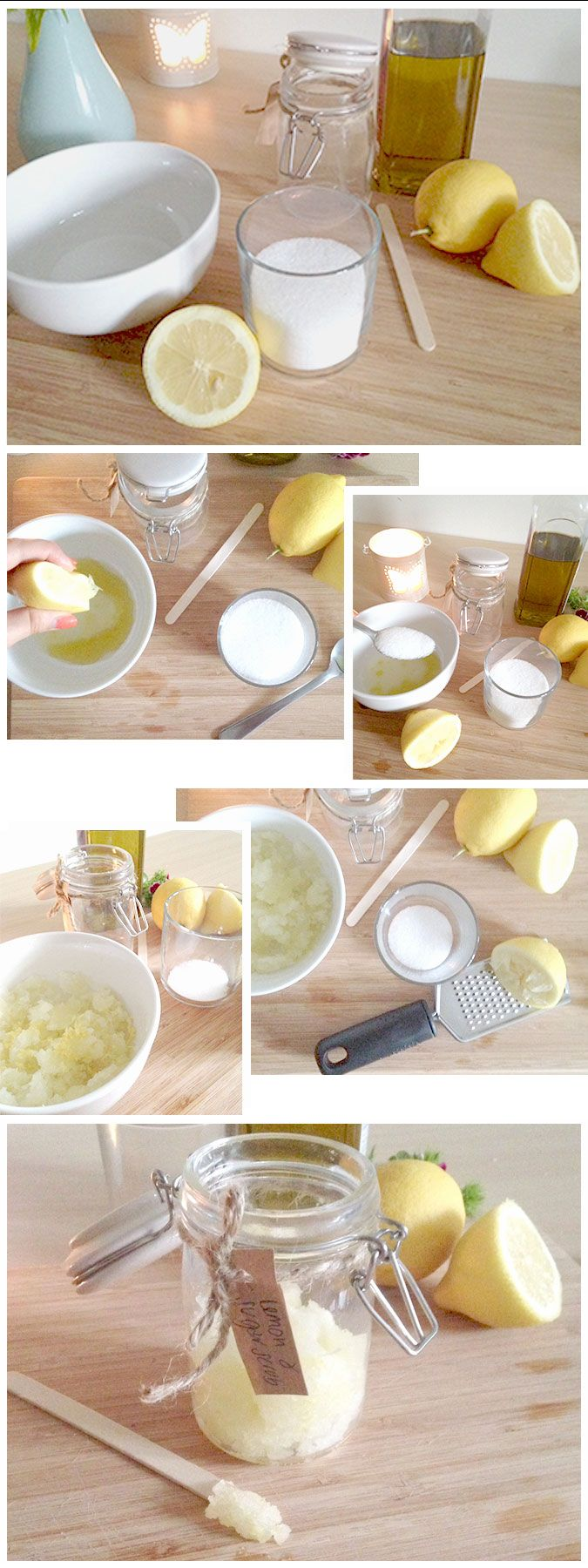 LEMON AND SUGAR ORGANIC FOOT SCRUB RECIPE. #MadeWithThought #OrganicBeauty