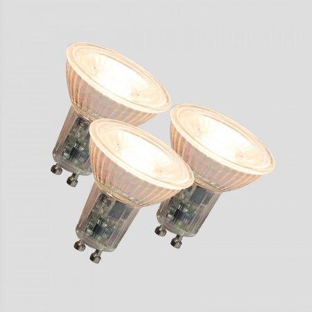3er Set  LED Leuchtmittel GU10 240V 5,5W 420lm dimmbar - Jetzt noch mehr Vorteile bei Lampen und Leuchten… Erhalten Sie 3 Leuchtmittel zum Preis von 2! Dieses sehr attraktive LED GU10 Leuchtmittel bietet den perfekten Ersatz für Ihre alte Lichtquellen. Das LED Leuchtmittel verbraucht gerade mal 5.5 Watt und das bei einer Lichtleistung von 420 Lumen.  #lampenundleuchten.de