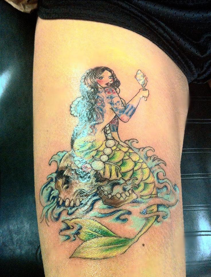 158 best mermaid tattoos images on pinterest mermaids for Mermaid tattoos pinterest