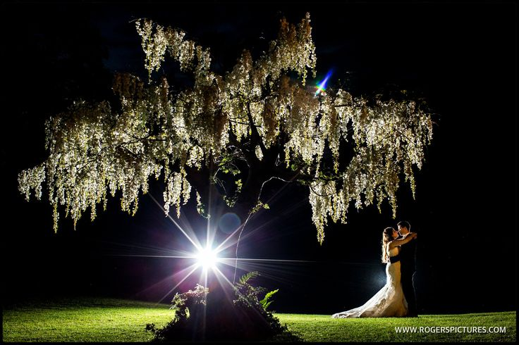 A night portrait at the end of the wedding day for Laura and Rory -