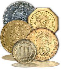 Collectible rare gold coins around the world