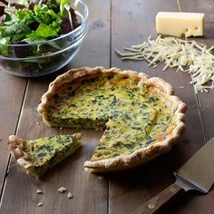 Florentine Quiche- 2 of my family's favorite ingredients, bacon & spinach;  this will be a great addition to our recipe book!