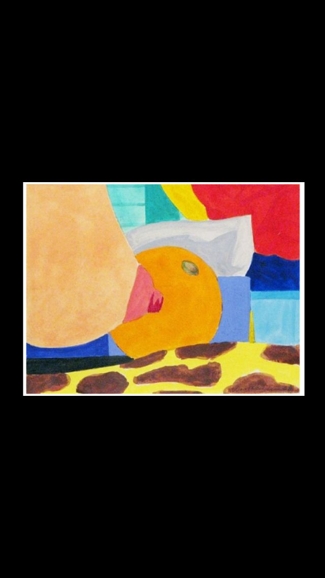 """Tom Wesselmann - """"Study for Bedroom Painting # 6"""", 1968 - Pencil and thinned liquitex on paper - 13,5 x 17,3 cm"""