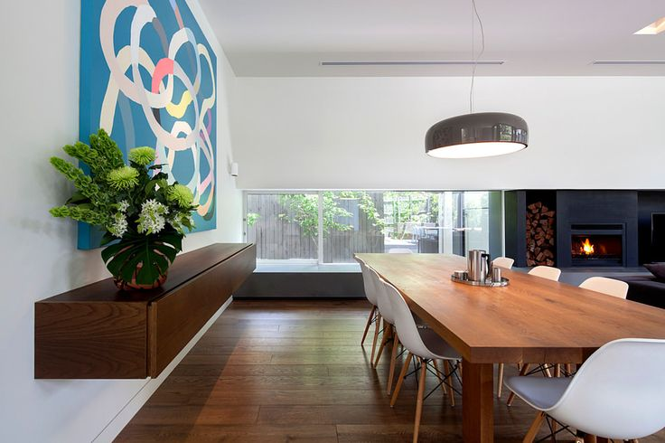 Heatmaster Fireplace - featured at Kew House by Neil Architecture