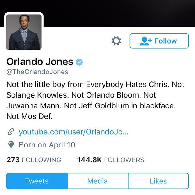 Orlando Jones is sick of us!