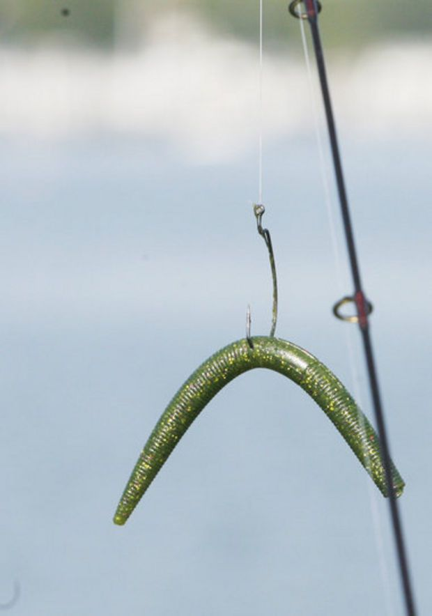 Special plastic worm rig is a bass catching bit of magic for Bass fishing worms