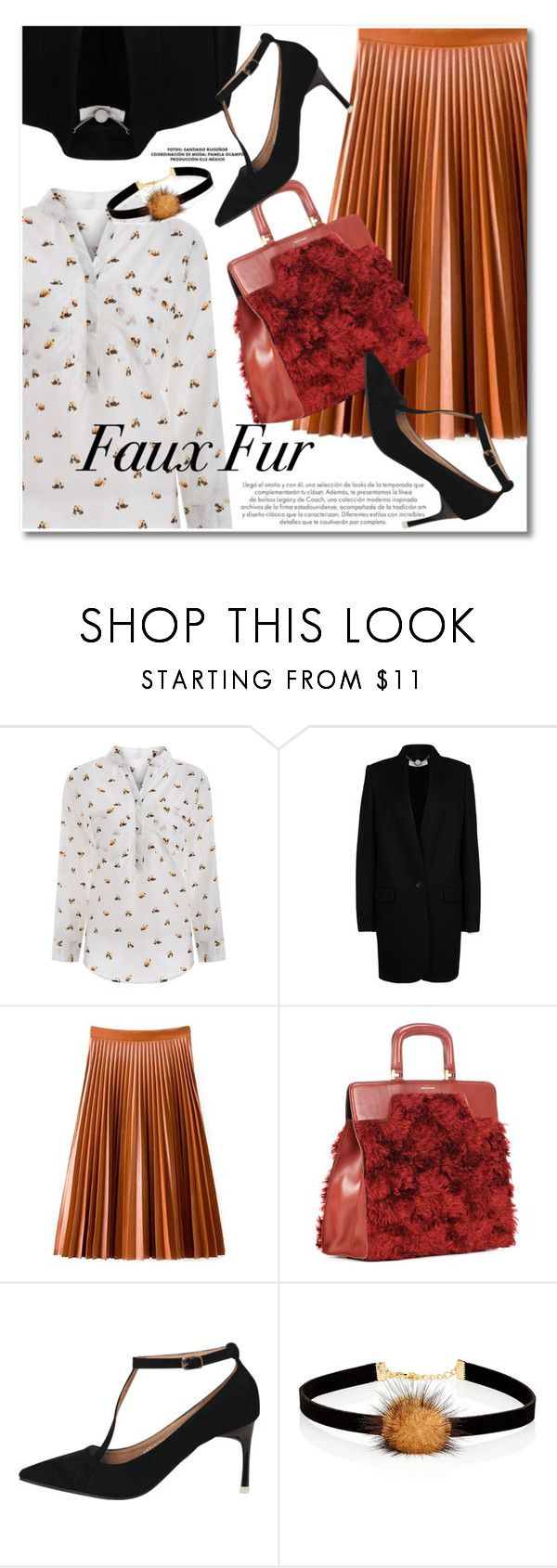 """""""Wow Factor: Faux Fur"""" by svijetlana ❤ liked on Polyvore featuring STELLA McCARTNEY, Dries Van Noten, Jules Smith and fauxfur"""