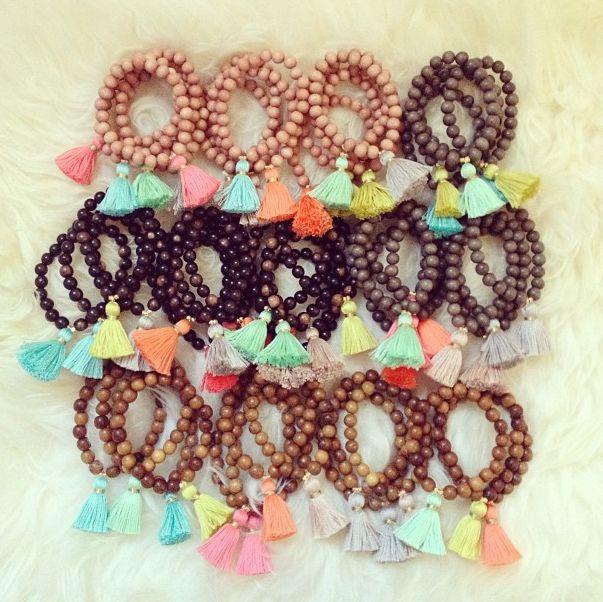 tassel bracelets!