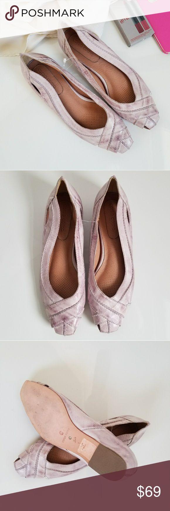 Corso Como Distressed Lavender Leather Flats Detail: Distressed leather upper Leather sole Brand new. Corso Como Shoes Flats & Loafers