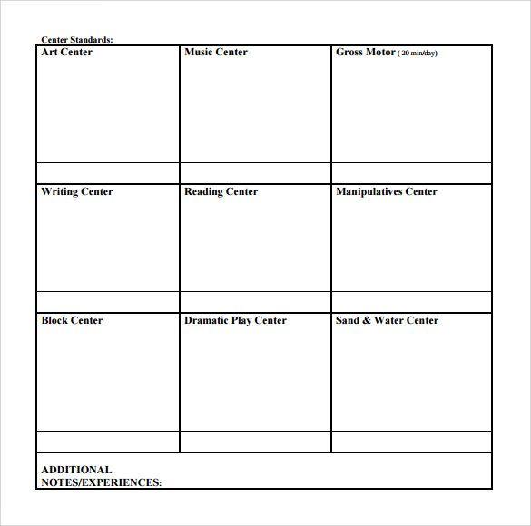 blank toddler lesson plan template blank lesson plan. Black Bedroom Furniture Sets. Home Design Ideas