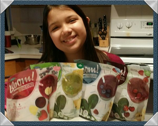 My Little One asked for a @BoomSmoothie and I turned around to this……Someone can't decide which @BoomSmoothies she wants because she loves them all.  What an easy and wonderful way to serve her up her fruits and veggies.  Thank you Boom.  Find your Boom here https://boomsmoothies.ca/where-to-buy/  #boomsmoothies, #DropBlendBoom #BCBuyLocal #MorningHacks  #sp