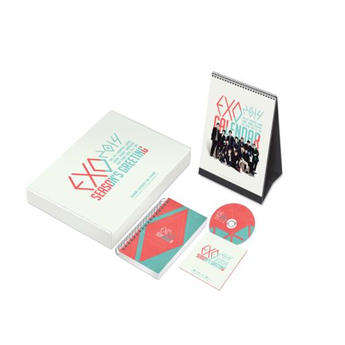 [2014 K-POP Season Greeting] EXO Idol Memorable (Table Calendar+Scheduler+DVD)