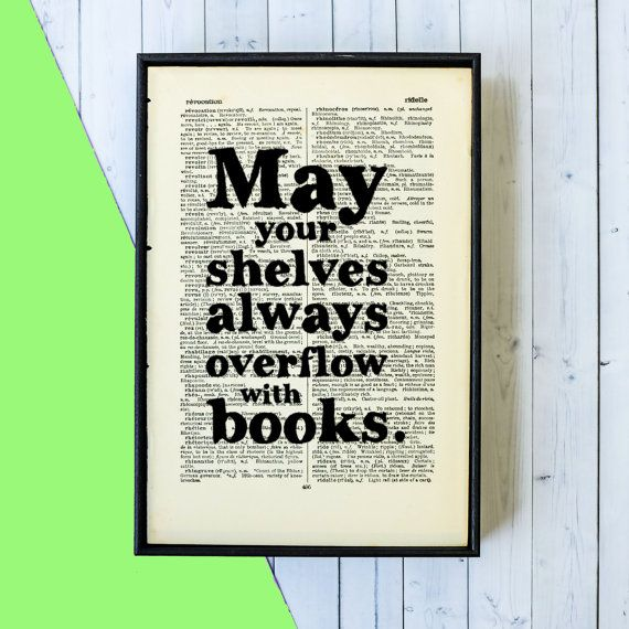 Book Lover Gift May Your Shelves Always Overflow by BookishlyUK