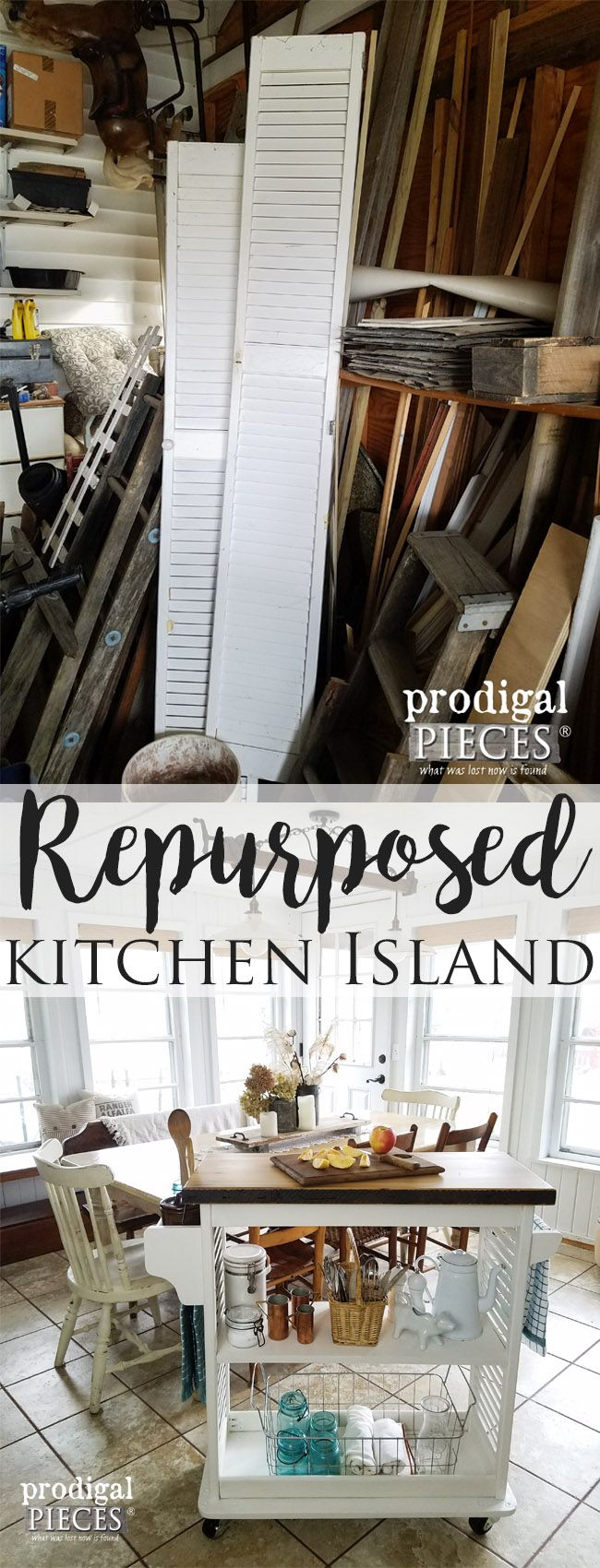Check out this Repurposed Kitchen Island Cart