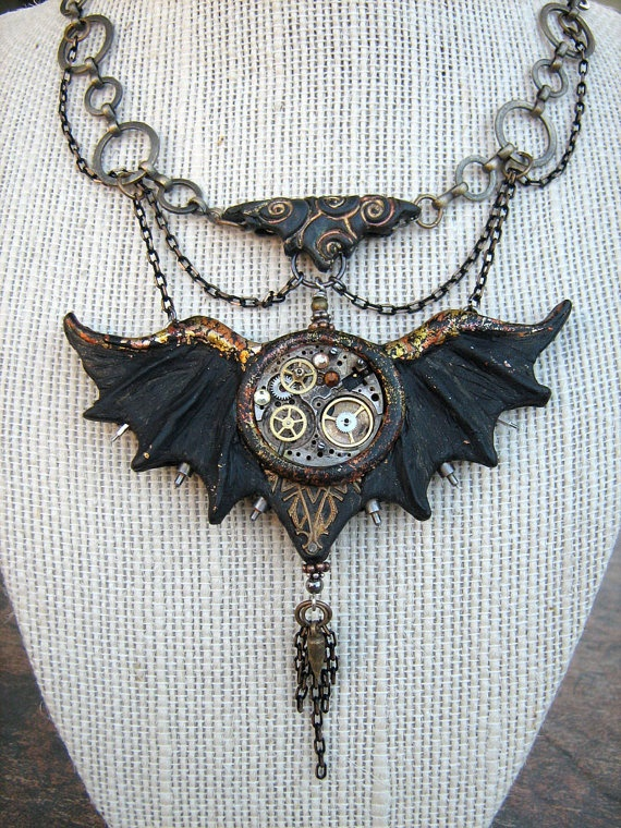 Gothic Wings by AnachronistsWhimsey on Etsyits so perfectly dark and would go with my shirt today I want one!