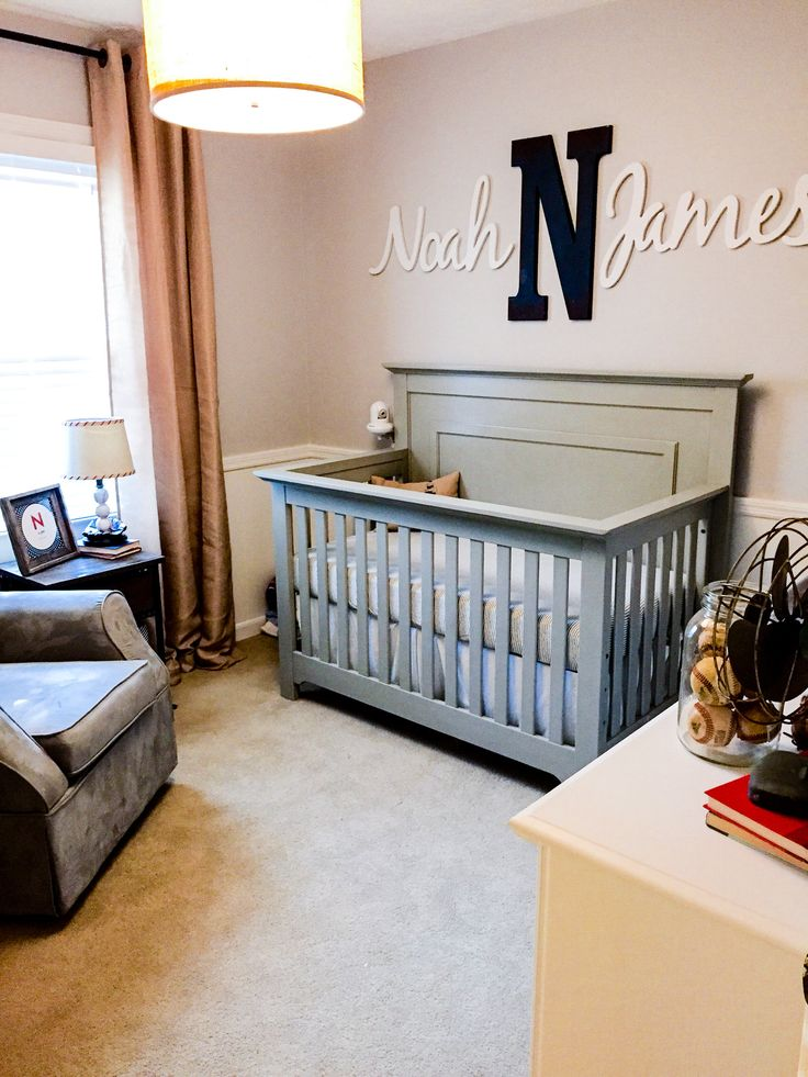 Vintage Baseball Nursery Design