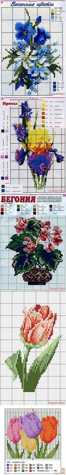 Flower kruissteek - Handwerken Club - Country Mom
