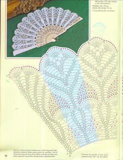 Crochet fan ♥LCF-MRS♥ with diagrams.