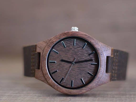 Mens Wooden Watch Wooden Watch For Men Leather Wooden Watch #WoodenWatchesForMen