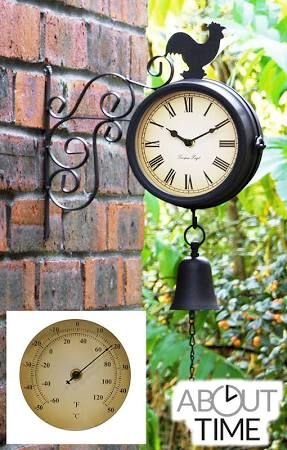rooster clock cast iron - Google Search