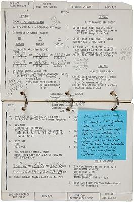 Checklist for bringing home Apollo 13.