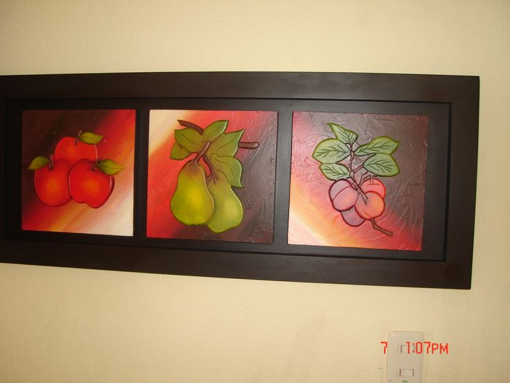 Tríptico frutas