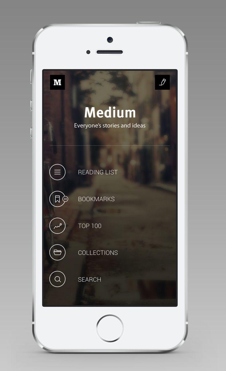 Medium for iOS (Main Screen) / André Givenchy