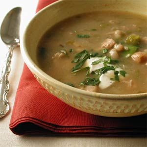 chicken green chili with white beans!