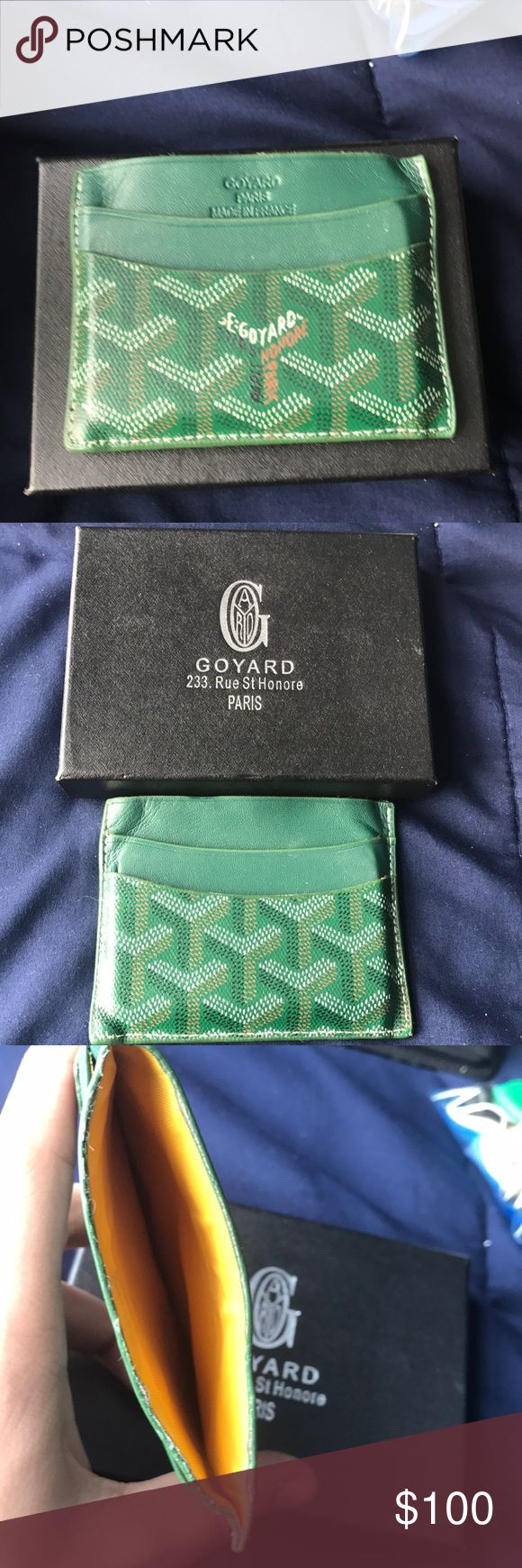 Goyard card holder Used goyard card holder has been reglued on inside as you can see in 3rd picture Goyard Accessories Key & Card Holders