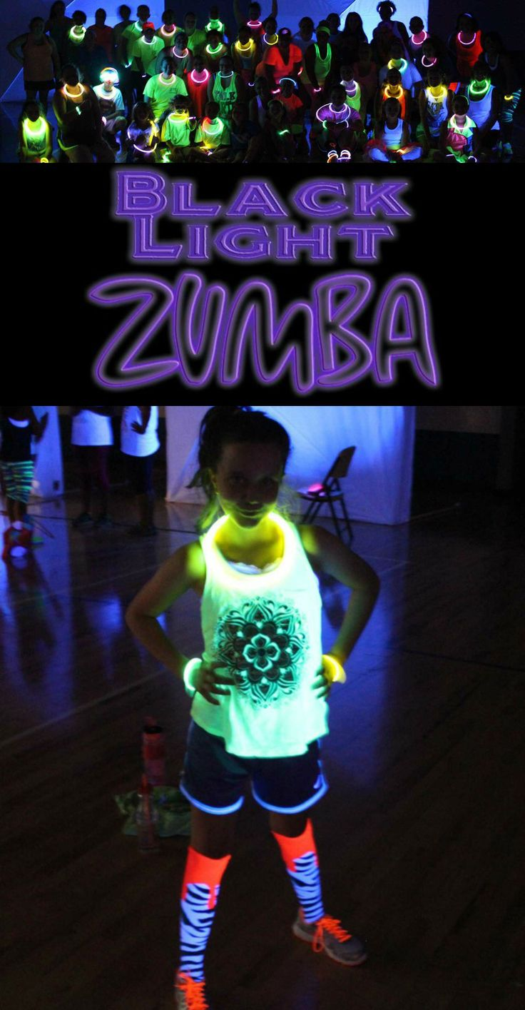 Fundraiser Ideas- Black Light Zumba