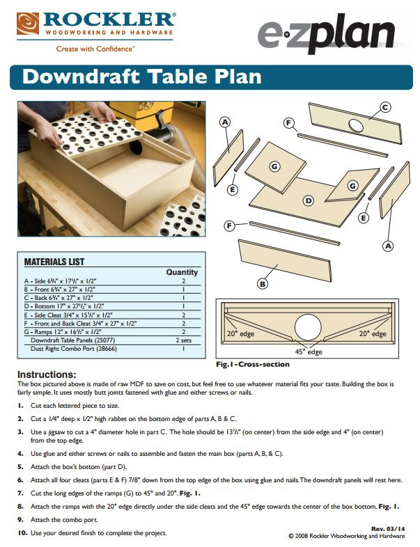 how to build a downdraft table