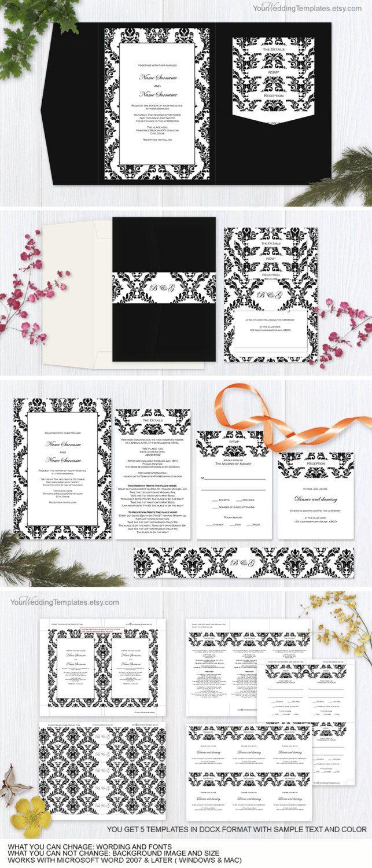 23 best Wedding invitation templates images on Pinterest ...