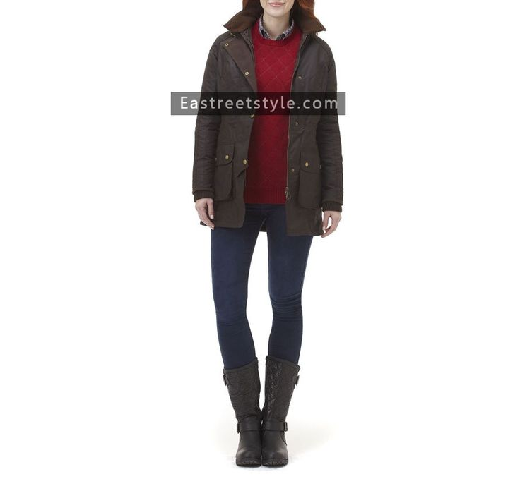 Women Barbour Stockyard Waxed Jacket at www.eastreetstyle.com #Barbour Jackets Sale