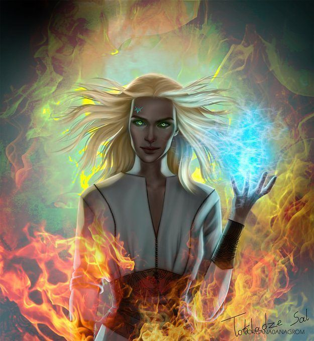 "Polubienia: 711, komentarze: 17 – Salome Totladze (@morgana0anagrom) na Instagramie: ""Here she is... Out beloved fire breathing bitch queen. Aelin from throne of glass series by…"""